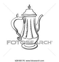 Clip Art of doodle coffee pot k28180176 - Search Clipart ...