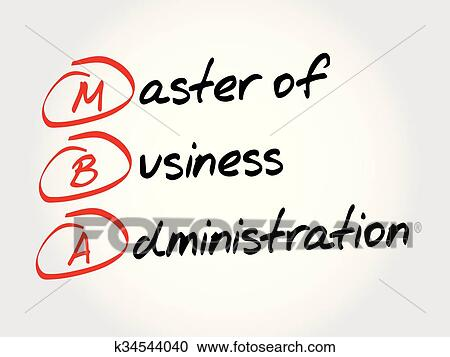 Mba Master Of Business Administration Clipart K34544040 Fotosearch
