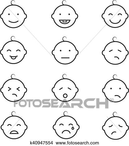 baby smile face emoticons