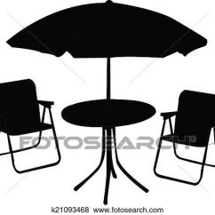 Beach Chair And Umbrella Clipart For Bathroom Clip Art Of Table K21093468 Search Fotosearch Illustration