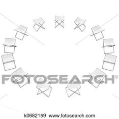 Folding Circle Chairs Tufted Vanity Chair Stock Illustration Of K0682159 Search