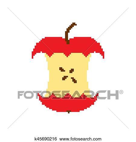 apple core pixel art