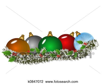 Christmas Decorations Drawing K0847072 Fotosearch