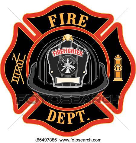 fire department cross black
