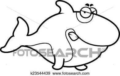 whale angry cartoon killer fotosearch clip expression