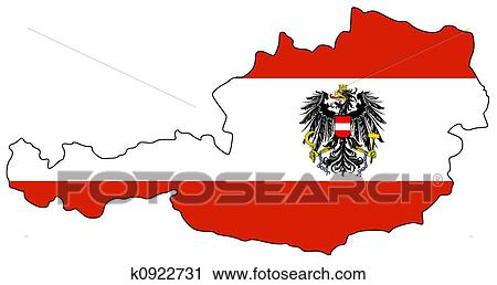 Clipart of Map of Austria k0922731 Search Clip Art