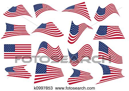 us american flag drawing