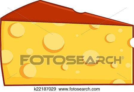 Clip Art of Cartoon Wedge Of Cheese k22187029 Search