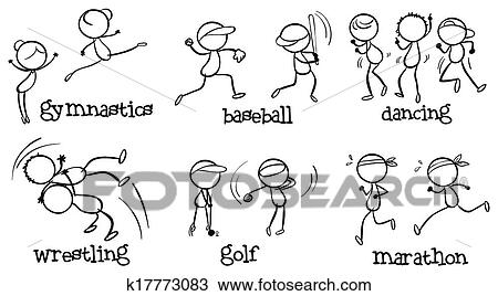 Clipart of Different indoor and outdoor activities