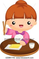 rice eating clipart fotosearch clip