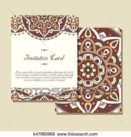 Set Of Wedding Invitations Cards Template With Individual Concept Design For Invitation Thank You Card Save The Date Clip Art