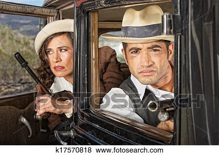 1920s Lookout Gangsters Stock Photo | k17570818 | Fotosearch