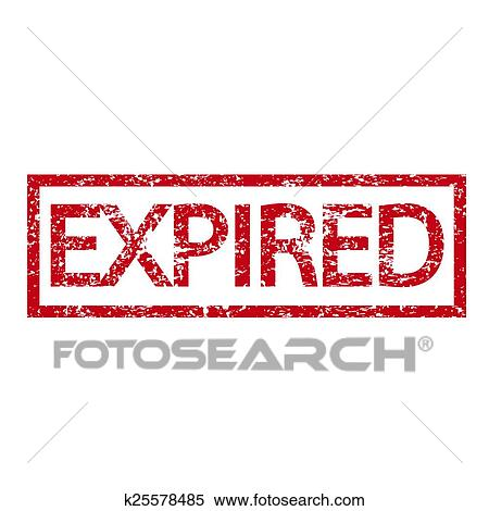 Expired stamp word Clipart | k25578485 | Fotosearch