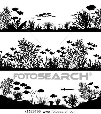 Clip Art - koralle vordergründe k1529199 - Suche Clipart