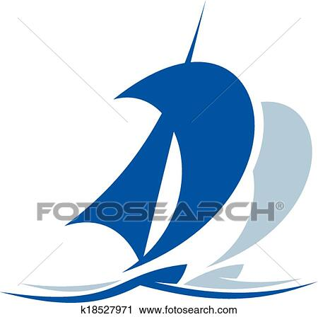 Sailing Ship Upon The Waves Clipart K18527971 Fotosearch