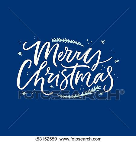 clip art of merry christmas lettering
