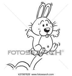 rabbit jumping clip cartoon fotosearch