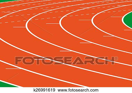 Athletics track Stock Illustration   k26991619   Fotosearch