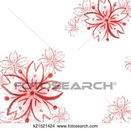 Flores Sakura Dibujo