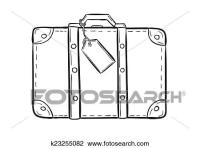 Clipart - schizzo, di, il, valigia k23255082 - Cerca ...