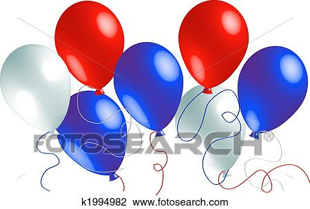 clipart of red white and blue