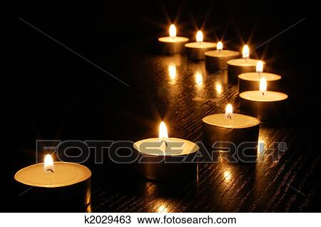 stock of romantic candle
