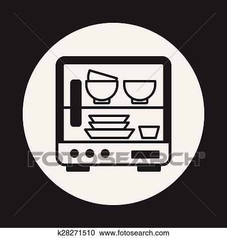 dishwasher icon clipart