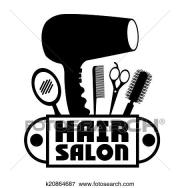 clip art of hair salon design k20864687