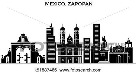 Mexico, Zapopan architecture urban skyline with landmarks