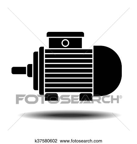 electric motor icon clipart