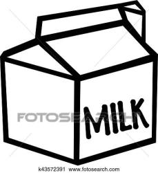 milk carton clip clipart vector illustration drawing fotosearch box dairy cartons gallon drawings background royalty dreamstime gograph cliparts line juice