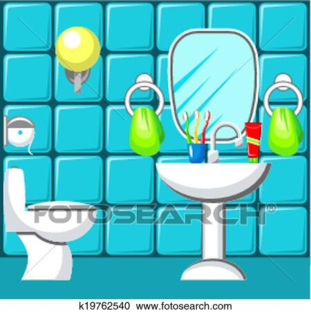 Bathroom Clipart K19762540 Fotosearch