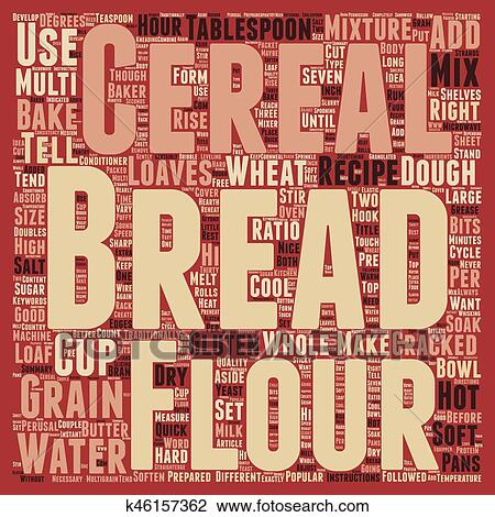 How To Bake Multi grain Bread text background wordcloud concept Drawing   k46157362   Fotosearch