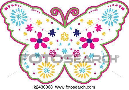 美工圖案 - 可愛, 花, 蝴蝶, 插圖 k2430368 - 搜尋美工圖片,插圖海報,圖示和向量 EPS 圖像 - k2430368.eps
