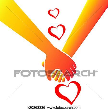 Download Holding hands love concept logo Clip Art   k20868336 ...