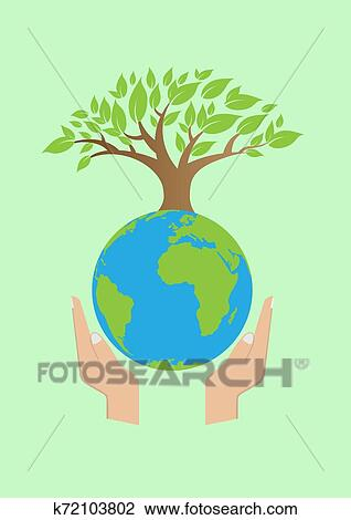 Save Earth Clipart K72103802 Fotosearch