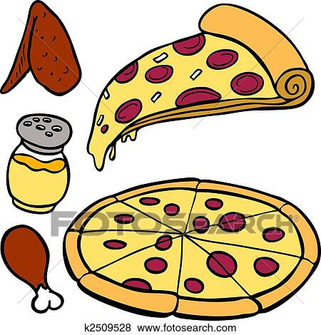 Clip Art of Pizza Food Items k2509528 Search Clipart
