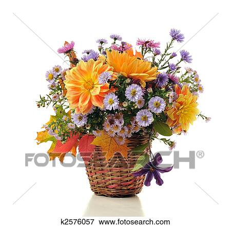bouquet autumn flowers