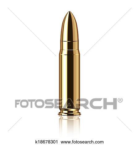rifle bullet vector illustration