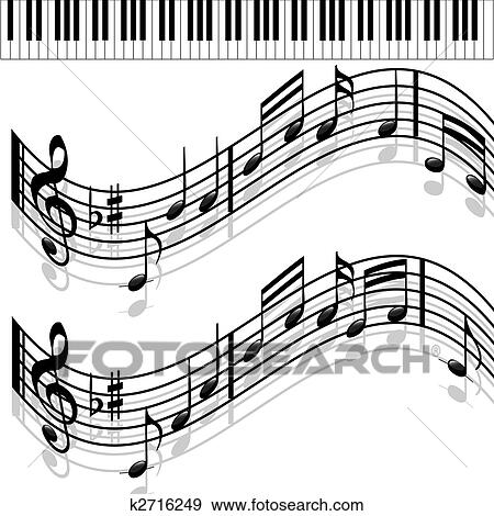 Stock Illustration of Music notes-Piano-Melody k2716249