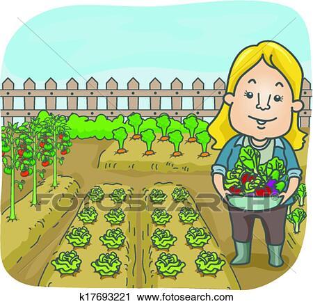 Vegetable Garden Clipart K17693221 Fotosearch
