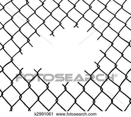 Cut wire fence Clipart k2991061