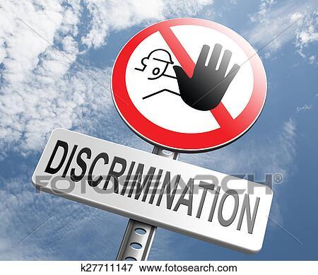 Stop discrimination no racism Stock Illustration | k27711147 | Fotosearch