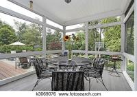 Stock Images of Screened in porch k3069076 - Search Stock ...