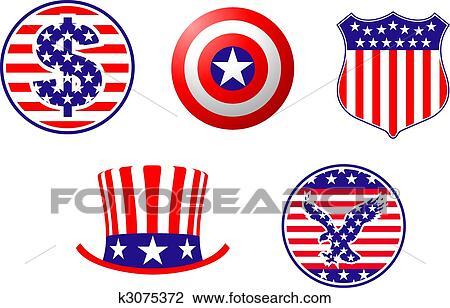 clipart of american patriotic symbols