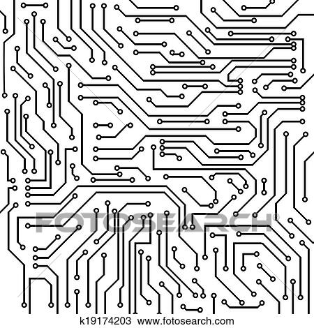 Clipart of Circuit board vector background k19174203