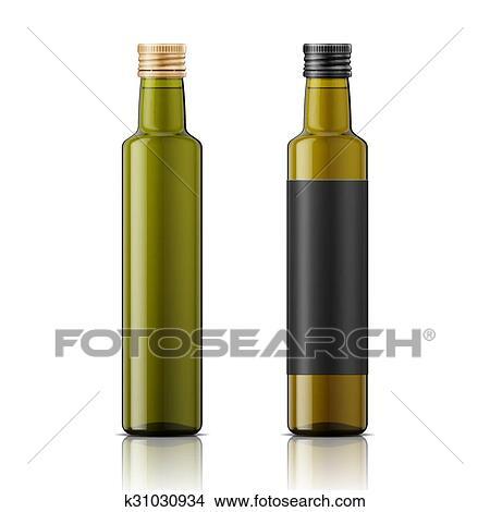 huile d olive bouteille gabarit a vis cap clipart