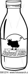 milk bottle clipart cartoon fotosearch label