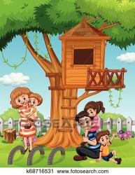 A family at house garden Clipart k68716531 Fotosearch