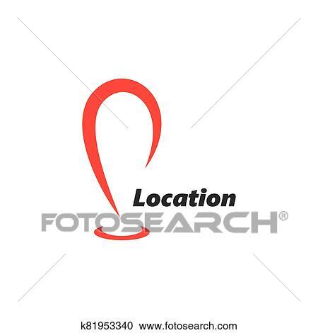 Location point Logo vector illustration Clipart
